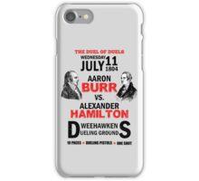 Burr Vs Hamilton iPhone Case/Skin