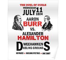 Burr Vs Hamilton Poster