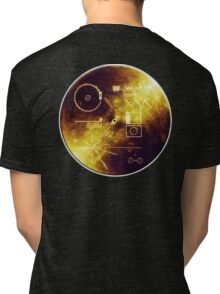 VOYAGER, Golden Record, Spacecraft, Message to Aliens Tri-blend T-Shirt
