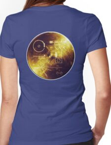 VOYAGER, Golden Record, Spacecraft, Message to Aliens Womens Fitted T-Shirt