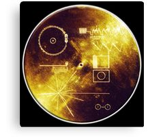 VOYAGER, Golden Record, Spacecraft, Message to Aliens Canvas Print