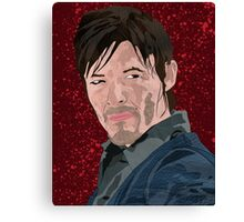 Daryl Dixon portrait Canvas Print