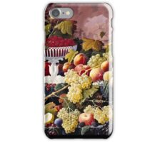 Severin Roesen - Fruit Still Life In A Landscape 1862  iPhone Case/Skin