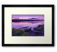 Blue hour on the Vistula river Framed Print
