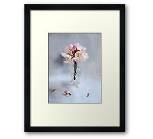 Rhododendron Bloom in a Glass Bottle Framed Print