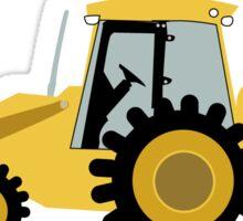 Construction Backhoe Digger Sticker