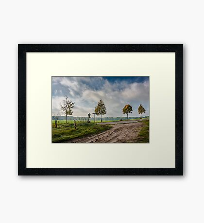 Four on the crossroads Framed Print