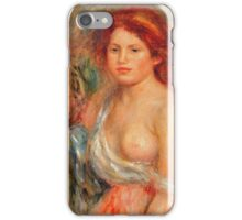 Renoir Auguste - Model With Bare Breast 1916 iPhone Case/Skin
