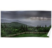 Rain over the Silesian Beskids Poster