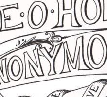 Axe-O-Holics Anonymous 1920s Kelly Fulton Clipper Sticker