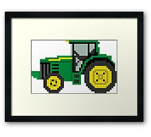 Tractor - The Kids' Picture Show - 8-Bit Framed Print