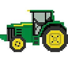 Tractor - The Kids' Picture Show - 8-Bit Photographic Print