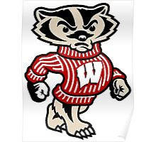 Badgers Mascot Poster