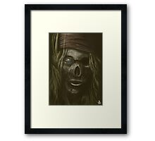 Cursed Pirate  Framed Print