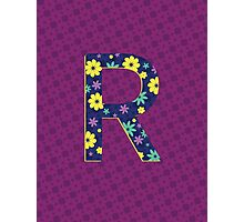 Flower Letter R Photographic Print