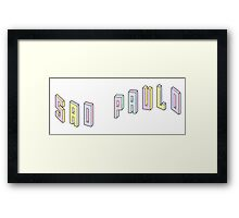 Pastel Collection: Sao Paulo Framed Print