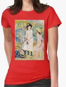 Renoir Auguste - Children on the Seashore, Guernsey (about 1883)  Womens Fitted T-Shirt