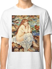 Renoir Auguste - Bather Seated On A Sand Bank  Classic T-Shirt