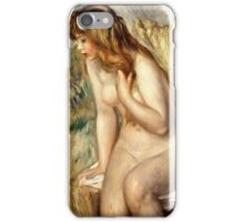 Renoir Auguste - Bather Seated On A Rock 1892  iPhone Case/Skin