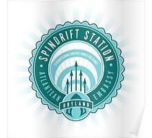 Spindrift Station Atlantean Embassy Poster