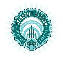 Spindrift Station Atlantean Embassy Photographic Print
