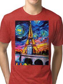tardis starry night in the paris Tri-blend T-Shirt