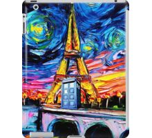 tardis starry night in the paris iPad Case/Skin