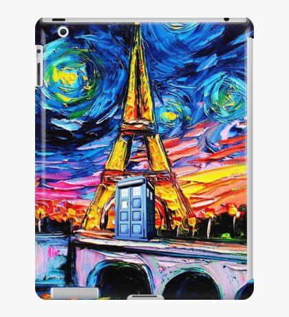 tardis starry night in the paris iPad Case/Skin