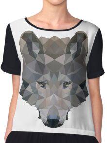 Low Poly Wolf Chiffon Top