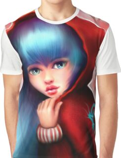 Red Riding Hood - Skater Girl in Forest Graphic T-Shirt