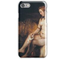 Rembrandt - Woman dressing iPhone Case/Skin