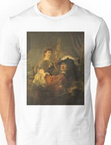 Rembrandt - Rembrandt And Saskia In The Scene Of The Prodigal Son Unisex T-Shirt