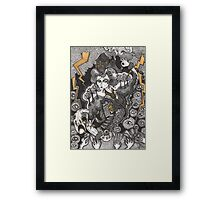She Was A Haunted House Framed Print