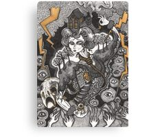 She Was A Haunted House Canvas Print