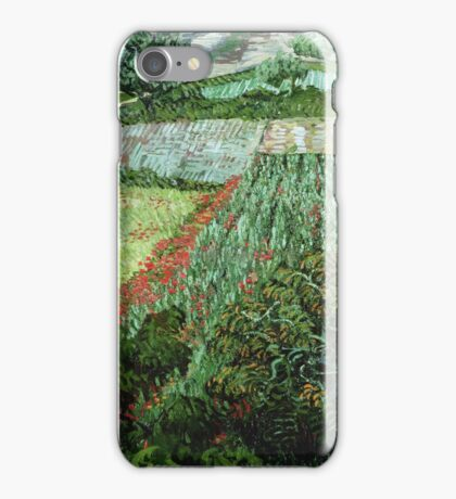 Vincent Van Gogh - Field With Poppies iPhone Case/Skin