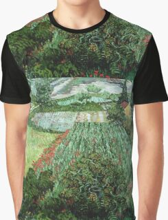 Vincent Van Gogh - Field With Poppies Graphic T-Shirt