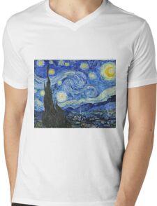 Vincent Van Gogh -  Starry Night 1889  Mens V-Neck T-Shirt