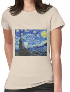 Vincent Van Gogh -  Starry Night 1889  Womens Fitted T-Shirt