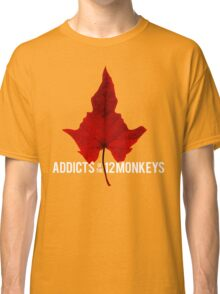 Addicts of the 12 Monkeys Leaf for black backgrounds Classic T-Shirt