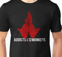 Addicts of the 12 Monkeys Leaf for black backgrounds Unisex T-Shirt