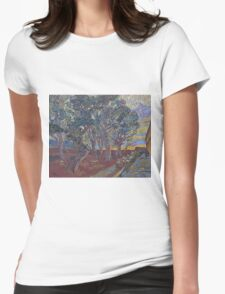 Vincent Van Gogh -  Garden Of  Asylum In  Saint-Remy, 1889 (Van Gogh Museum Version) Womens Fitted T-Shirt