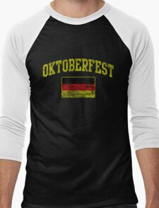 Vintage Oktoberfest German Flag  Men's Baseball ¾ T-Shirt