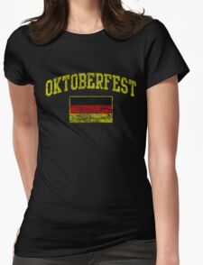 Vintage Oktoberfest German Flag  Womens Fitted T-Shirt