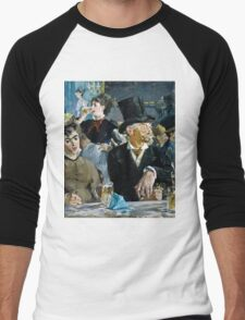 Edouard Manet - At the Cafe ( 1879)  Men's Baseball ¾ T-Shirt