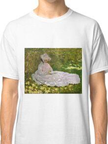 Claude Monet - Springtime (1872)  Classic T-Shirt