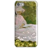 Claude Monet - Springtime (1872)  iPhone Case/Skin