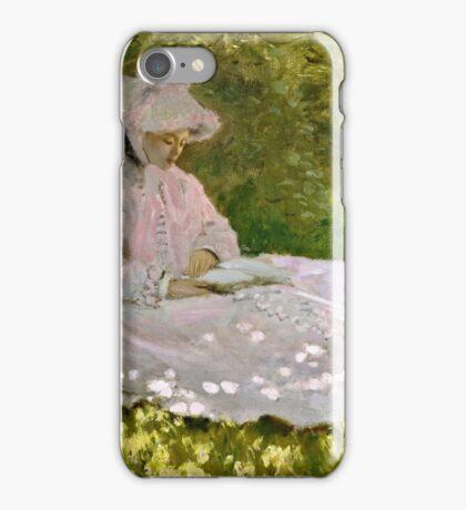 Claude Monet - Springtime (1872)  iPhone Case/Skin