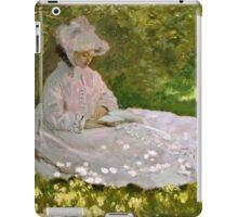 Claude Monet - Springtime (1872)  iPad Case/Skin
