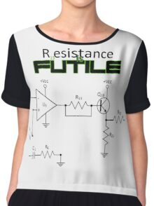 resistance is futile  Chiffon Top