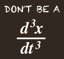 Funny Mathematics 'Don't Be a Jerk' Math Formula T-Shirt by Albany Retro
